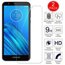 For Motorola Moto E6 Caseswill HD Clear Tempered Glass Film Screen Protector X2