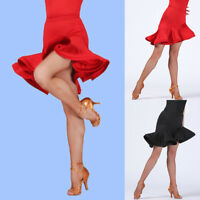 Skirt Dance Dress Tango Salsa Ballroom Competition Women Bandage Square Flare