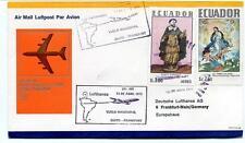 FFC 1973 Lufthansa First Flight LH 495 Quito Frankfurt Ecuador Santo Domingo