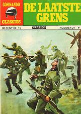 COMMANDO CLASSICS 27 - DE LAATSTE GRENS (1975)