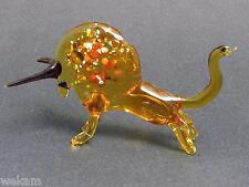Glass Blown Art Figurine Animal BISON Murano  Style