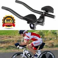 Bike Road Mountain Bicycle Alloy Triathlon Aero Rest Handle Bar Clip On Tri Bars