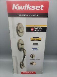 Kwikset Shelburne Single Cylinder Handleset w/Juno Knob SmartKey Antique Brass