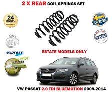 FOR VW PASSAT ESTATE 2.0 TDI BLUEMOTION 2009-2014 NEW 2x REAR COIL SPRING SET