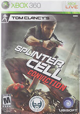 TOM CLANCY'S SPLINTER CELL CONVICTION  (Xbox 360, 2010)