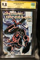 AMAZING SPIDER-MAN #651 DISNEY 1:15 TRON Variant 9.8 CGC SS Signed Brooks MARVEL