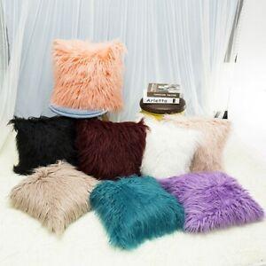 Fluffy Plush Square Waist Throw Pillow Cushion Sofa Cover Home Room Decors AU