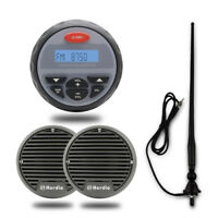 Herdio Marine Boat Bluetooth Radio stereo system kit with speakers and antenna