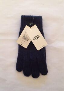 NWT UGG Men's Knit Tech Gloves; Navy; OS
