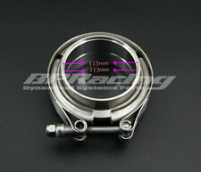4.5'' Inch V Band Clamp Turbo Exhaust Downpipe Stainless Steel 304 With 2Flange