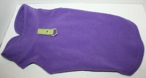 Gooby Fleece Vest Pullover Jacket Sweater w/Leash Ring SMALL BREED Lavender Lg