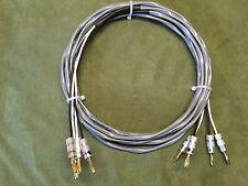 Belden 5000UE 12 AWG High Quality Speaker Cable, 2/2 Pair Banana, 15 ft.