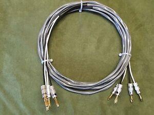 Belden 5000UE 12 AWG High Quality Speaker Cable, 2/2 Pair Banana, 10 ft.