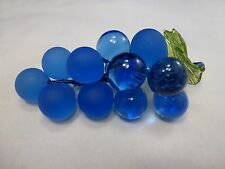 NEW Arte Di Murano Italy Original Glass BLUE    Fruit Grapes  WITH INCISED  Tag