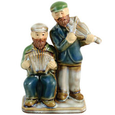 Judaica Figurine Ceramic 2 Kliezmer Players Violin and Accordion 12 cm Gift