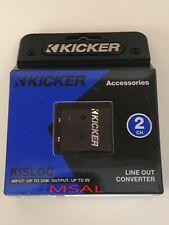 Kicker 46Kisloc2 Car Audio 2 Channel Line Output Converter W/Remote Out Wire New