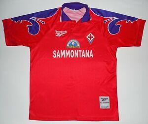 Fiorentina Reebok Football Jersey Shirt Maglia Sammontana Italy 1995/1997 Red
