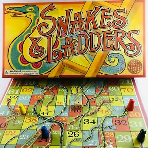 NEW, High Quality, SNAKES & LADDERS Board Game, With Lots Of Vintage Style!