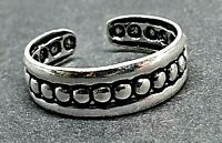Toe Ring Solid 925 Sterling Silver Viking Norse Style Adjustable Style Shield