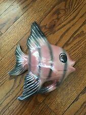 Vintage Bathroom Wall Decor Pink Fish Luster Tropical Treasures Ceramicraft