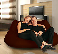 2 Seater CHOC Chocolate bean bag