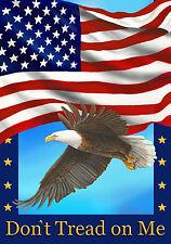 "Don't Tread On Me Patriotic Garden Flag American Eagle Stars & Stripes 12"" X 18"""