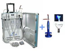 Updated Dental Portable Turbine Unit Air Compressor 2H + a Wireless Curing Light