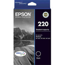 Epson Genuine 220 BLACK Ink Cartridge For WF2630 WF2650 XP220 XP320 - 160 Pages