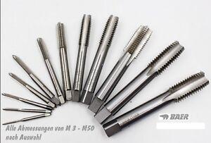 Einschnitt Gewindebohrer Handgewindebohrer  M1 - M30 zur Wahl Gewindeschneider