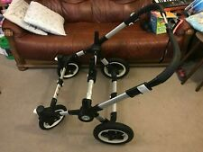 Bugaboo Donkey 2 Duo/Twin Chassis Frame with Wheels Pram/Pushchair Silver 180250