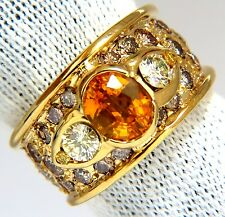 fancy colors diamonds ring 14kt. + $7000 3.50ct natural canary oval sapphire &