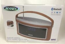 Jensen SMPS-725 Bluetooth Stereo Speaker with FM Radio, NEW