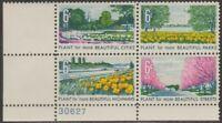 Scott# 1365-68 - 1969 Commemoratives - 6 cts Beautification of America Pl Bk (C)