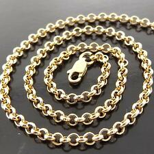 FSA146 GENUINE 18K YELLOW G/F GOLD SOLID BELCHER LINK PENDANT NECKLACE CHAIN