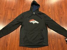 Majestic Mens Denver Broncos Football NFL Armor Hoodie Sweatshirt Medium M Black