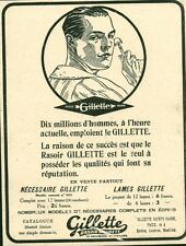 Publicité ancienne lames de rasoir GILLETTE   1918