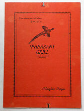 1956 Original Full Size Dinner Menu Pheasant Grill Arlington Oregon