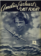 AMELIA EARHART sheet music AMELIA EARHART'S LAST FLIGHT (1939)