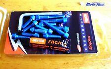 Aprilia Ergal Racing SR 50 Minarelli Malaguti F 12 Schrauben Motordeckel blau