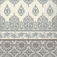 Serviette Madrid in graphit  aus Tissue 33 x 33 cm, 100 Stück - Ornamente
