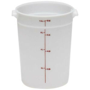 Cambro (RFS8PP190) 8 qt Round Polypropylene Food Storage Container