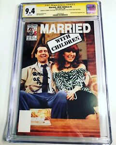 CGC 9.4 SS Married...With Children #2 signed by Ed O'Neill & Katey Sagal Al Peg