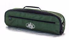 C Flute Case COVER w Side Pocket, Handle, Shoulder Strap. Army Green
