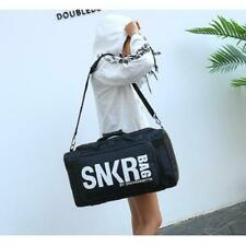 Multifunctional Sneakers Travel Bag Large Capacity Polyester Black Luggage Cloth