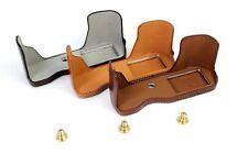 PU Leather Half Body Set Cover Camea Bag For Olympus OM-D E-M10 Mark II EM10II