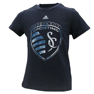 Sporting Kansas City Official MLS Adidas Kids Youth Girls Size T-Shirt New Tags