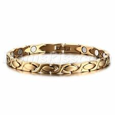 Women's Charm Luxury Gold Tone Stainless Steel Magnetic Bracelet Chain For Gift