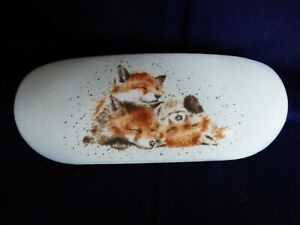 """Gorgeous Wrendale Glasses Case """"Afternoon Nap"""" (Foxes) by Hannah Dale"""