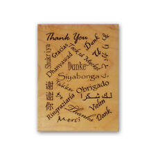 Thank you in foreign languages mounted rubber stamp, thanks, background CM #5