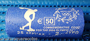 2004 Greece 2€ Euro Summer Olympics in Athens Commemorative Coin (One Roll)
